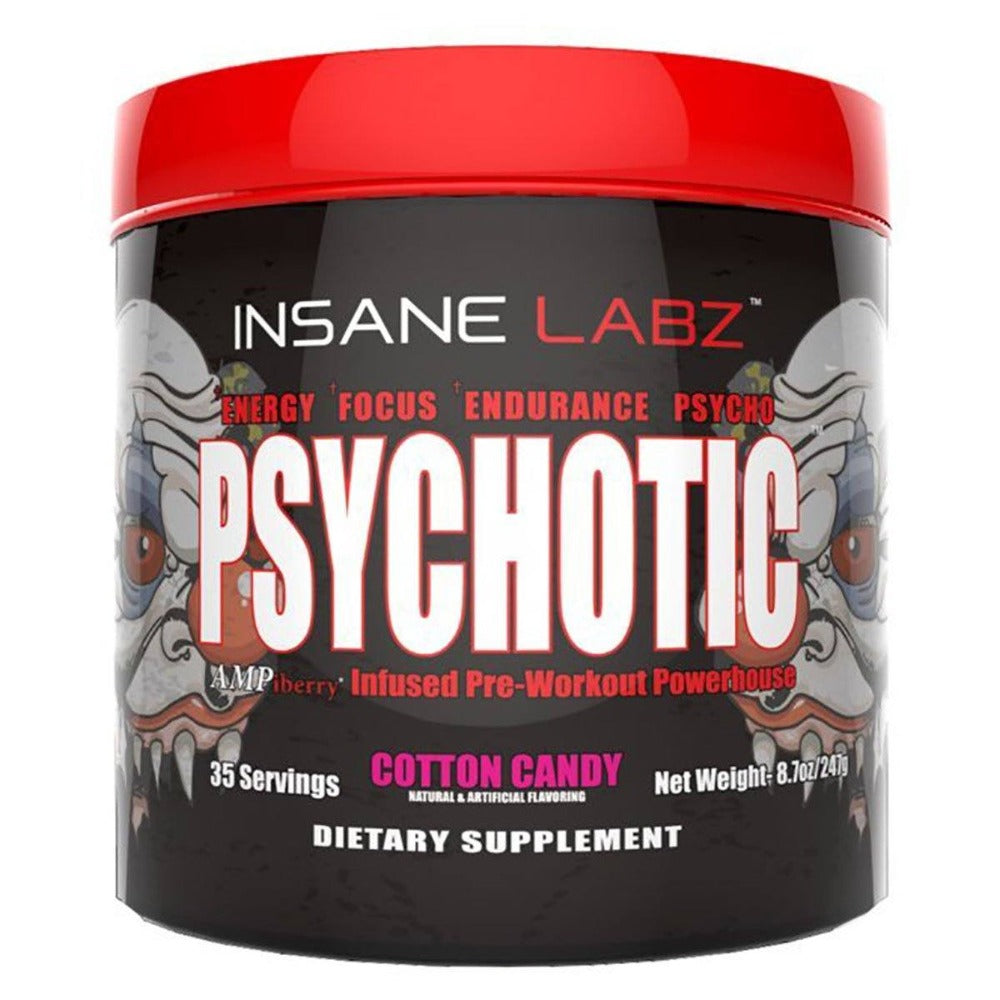 Insane Labz Psychotic 35 Servings Sports Performance Recovery Insane Labz Cotton Candy  (1712150773803)