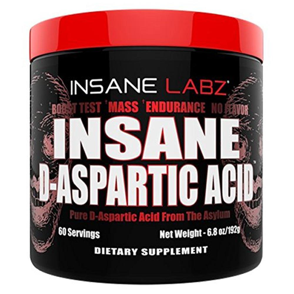 Insane Labz Insane D-Aspartic Acid (D-AA) 60 Servings Amino Acids Insane Labz  (1746293948459)