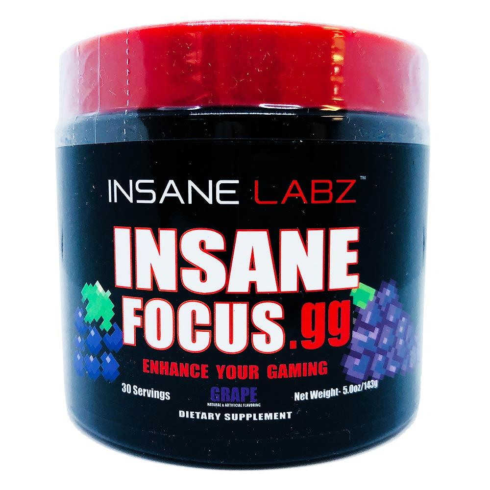 INSANE Insane Focus.GG 30 Servings | Focus, Energy & Mood Specialty Health Products Insane Labz Grape  (1769023701035)