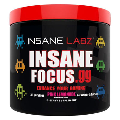 INSANE Insane Focus.GG 30 Servings | Focus, Energy & Mood Specialty Health Products Insane Labz Pink Lemonade  (1769023701035)