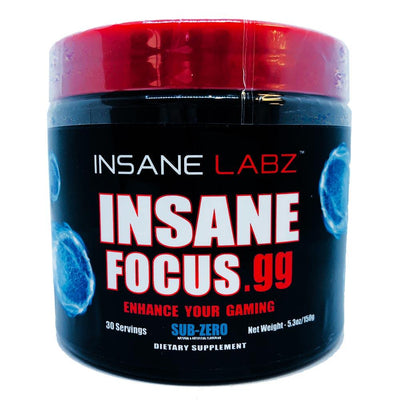 INSANE Insane Focus.GG 30 Servings | Focus, Energy & Mood Specialty Health Products Insane Labz Sub-Zero  (1769023701035)
