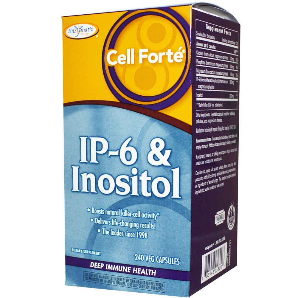 Enzymatic Therapy Cell Forte With IP-6 and Inositol 240 Capsules Other Supplements Enzymatic Therapy  (1057920614443)