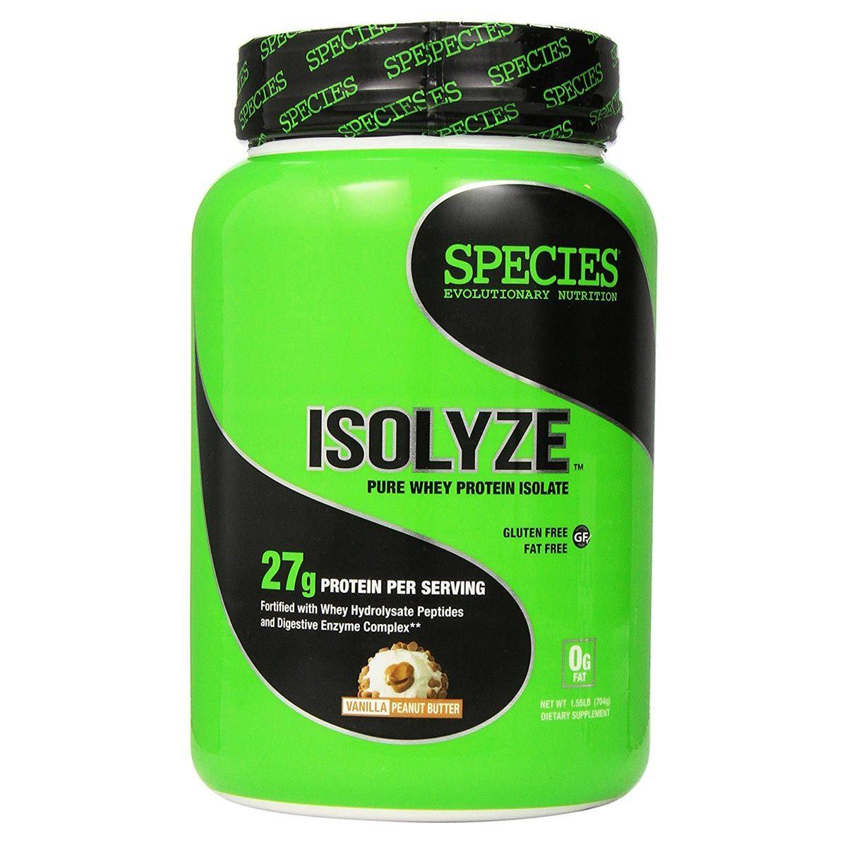 Species Nutrition Isolyze 22 Servings Protein Species Nutrition Vanilla Peanut Butter  (1059091447851)