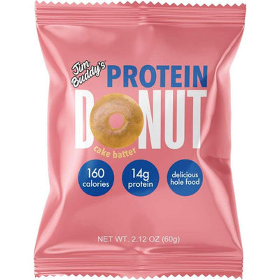 Jim Buddy Protein Donut 10/Box Foods Juices Jim Buddy Cake Batter  (4362739023937)