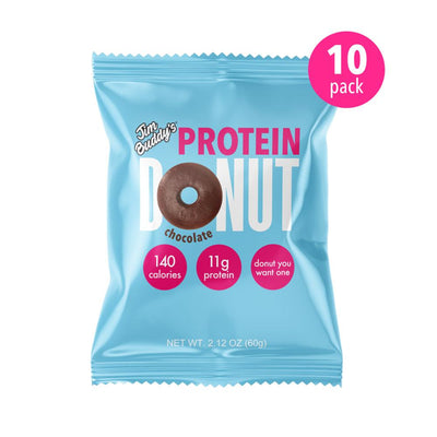 Jim Buddy Protein Donut 10/Box Foods Juices Jim Buddy Chocolate  (4362739023937)