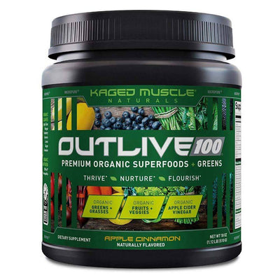 Kaged Muscle Outlive 100 30/sv Specialty Health Products Kaged Muscle Apple Cinnamon