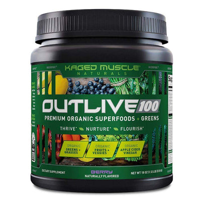 Kaged Muscle Outlive 100 30/sv Specialty Health Products Kaged Muscle Berry