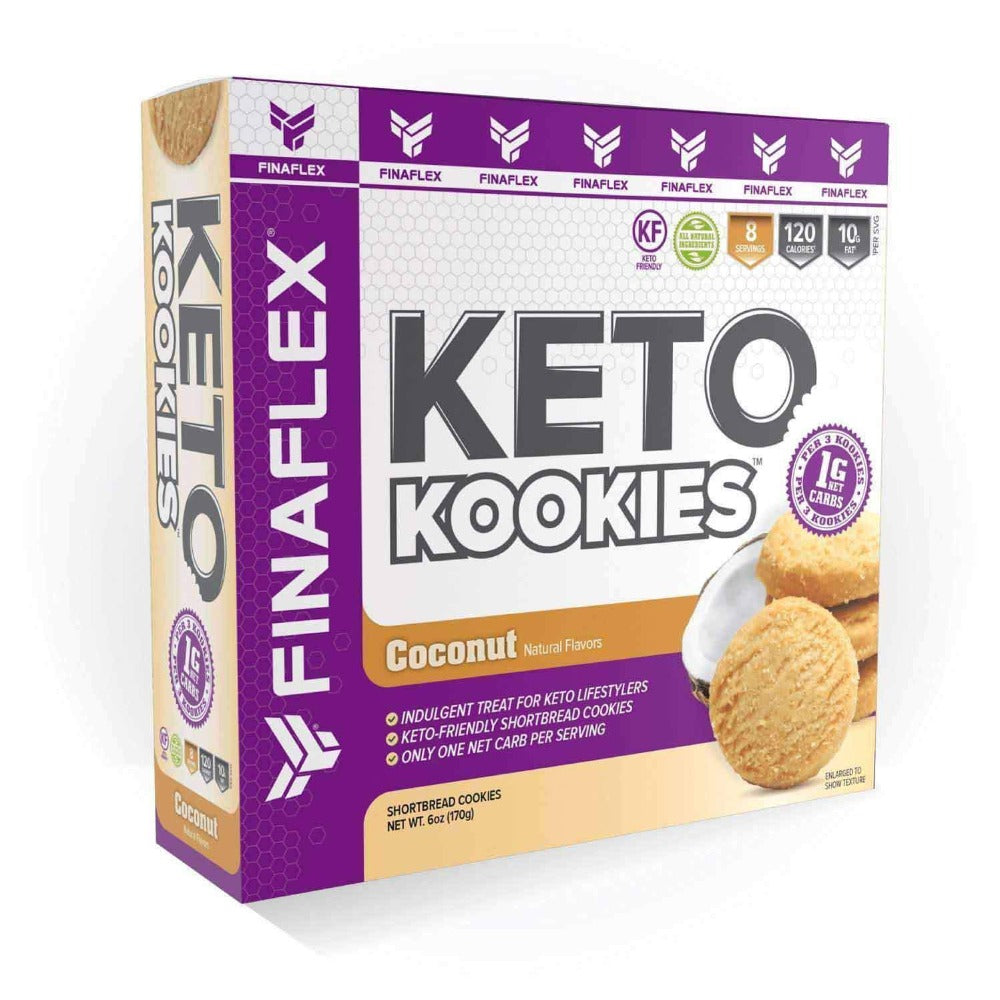 Finaflex Keto Cookies 6oz Foods Juices Finaflex Coconut  (1869167820843)
