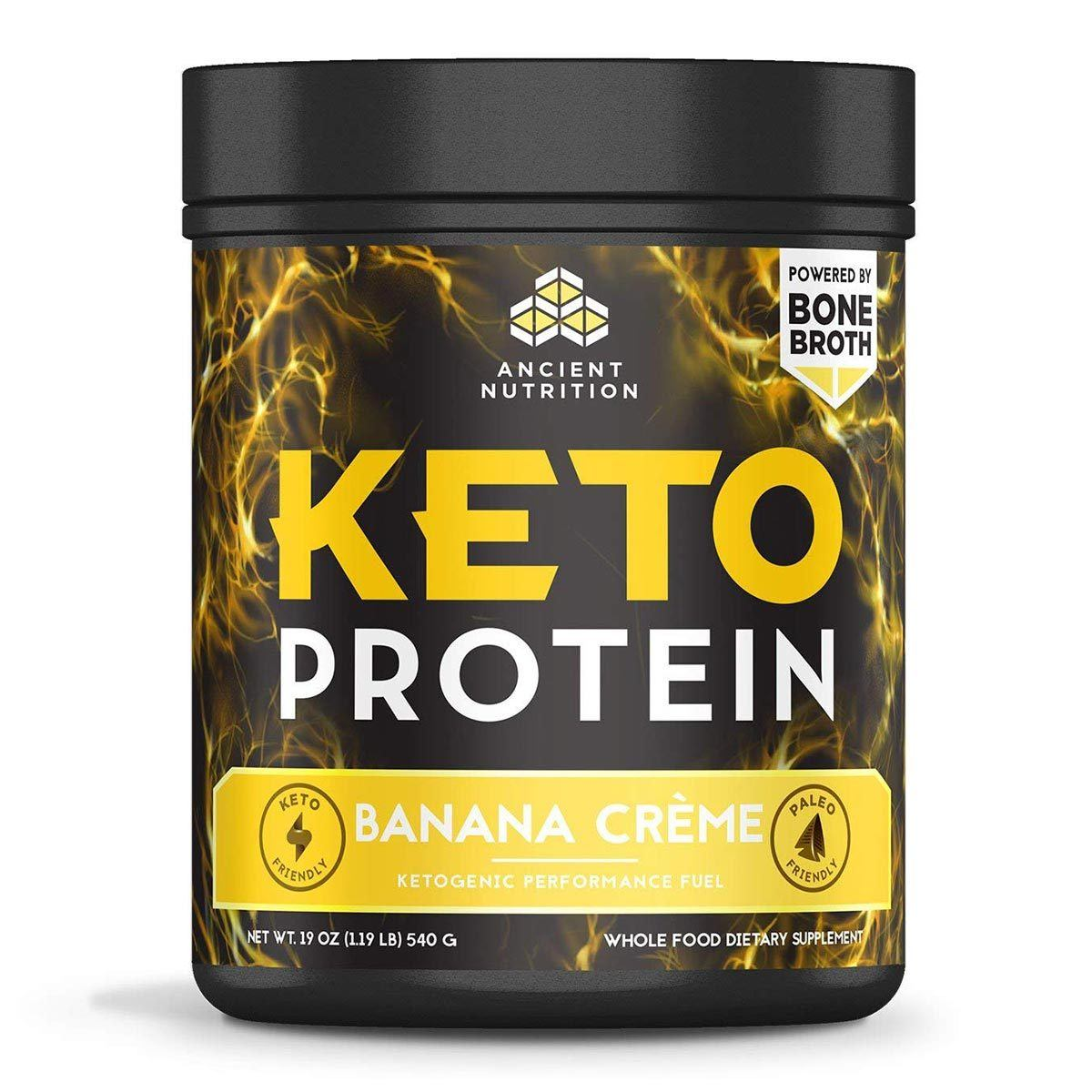 Keto Protein 17 Servings Protein Powders Ancient Nutrition Banana Creme  (1556674281515)