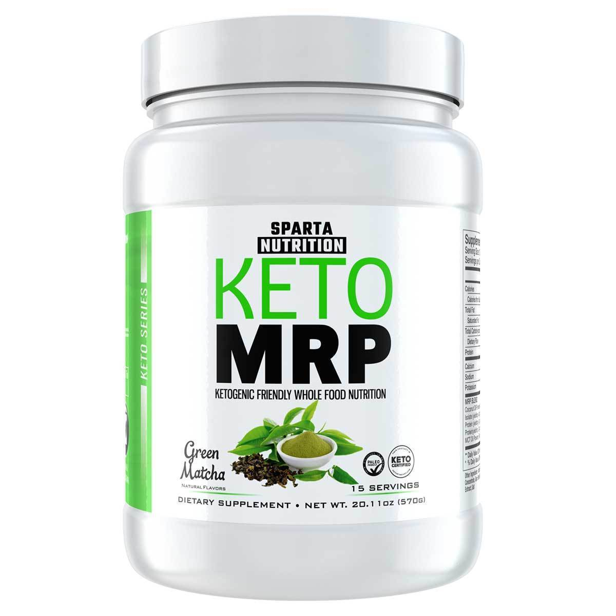 Sparta Nutrition Keto MRP Green Matcha 15 Servings Meal Replacement Powders Sparta Nutrition  (1515714674731)