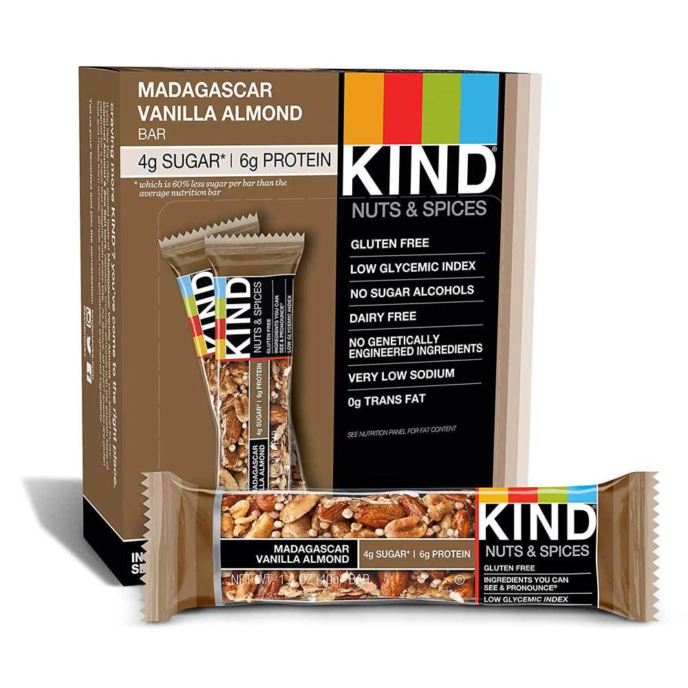 KIND Bars Nuts & Spices 12/Box Bars KIND Madagascar Vanilla Almond  (1762407055403)