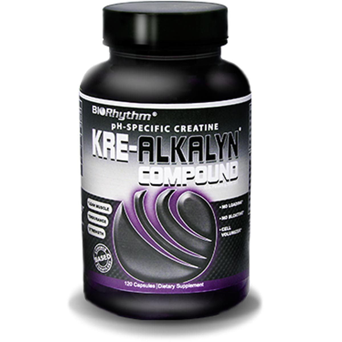 BioRhythm Kre-Alkalyn Compound 120 Caps Creatine BioRhythm  (1059192766507)