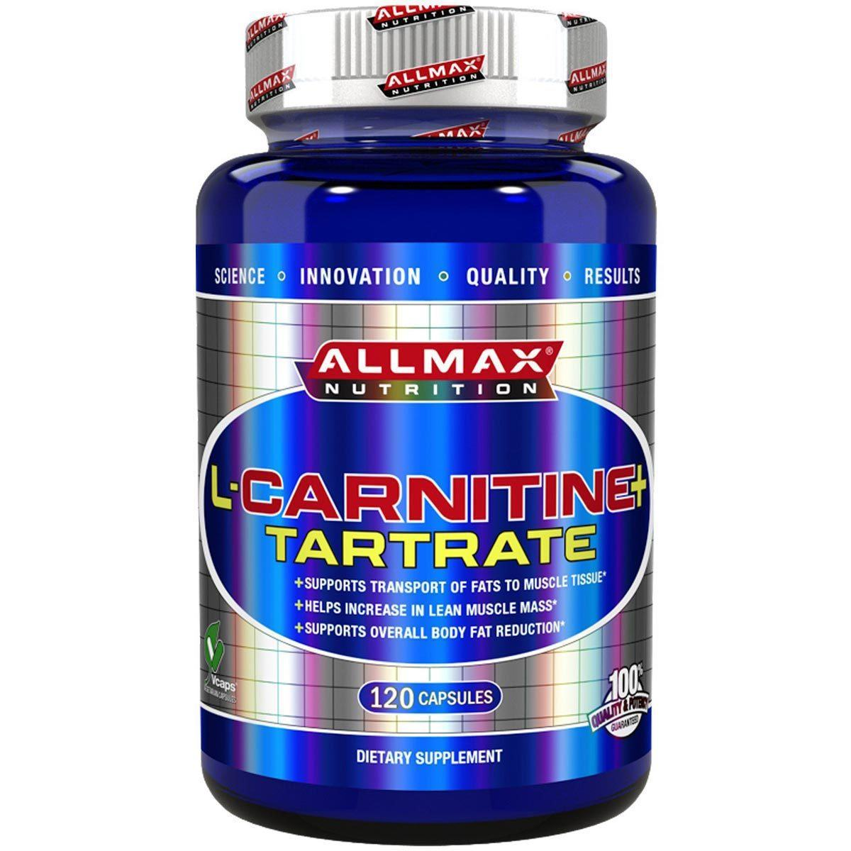 Allmax Nutrition L-Carnitine 500mg 120 Caps Amino Acids Allmax Nutrition  (1058736537643)