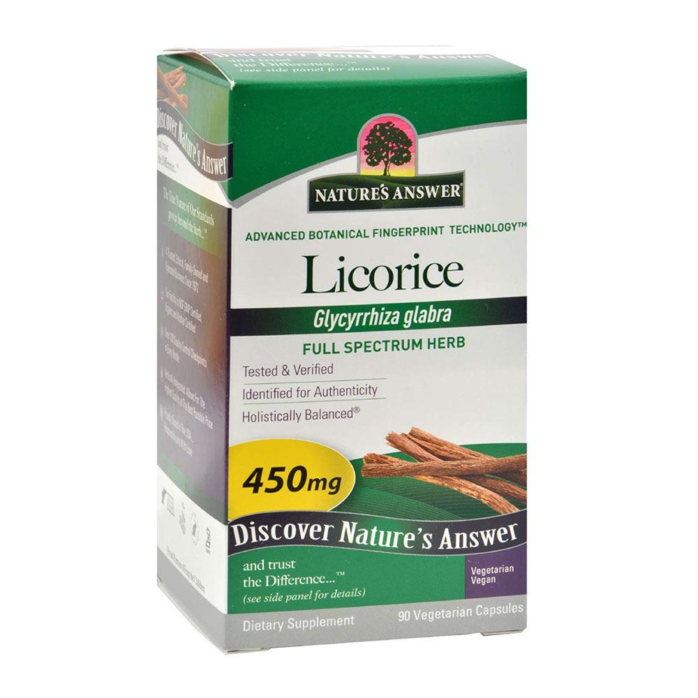 Nature's Answer Licorice Root 90 Capsules | Soothes Mucous Membranes Herbs Nature's Answer  (1782428237867)