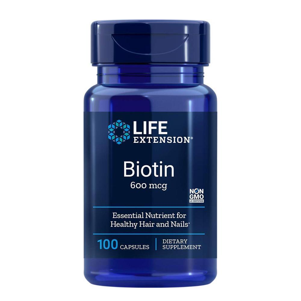 Life Extension Biotin 600 mcg 100 Caps Vitamins Life Extension  (1058282766379)
