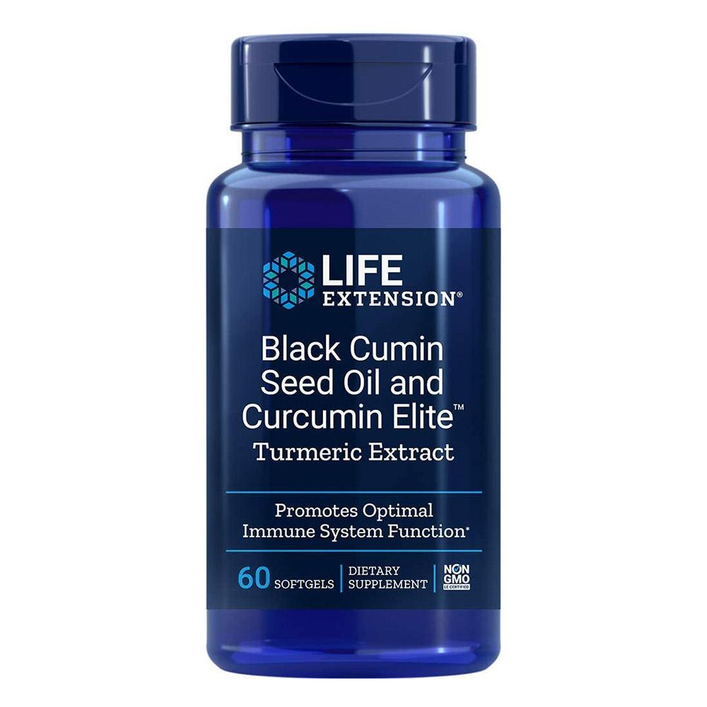 Life Extension Black Cumin Seed Oil w Curcumin Elite Turmeric Extract 60SG Herbs Life Extension  (4594709135425)