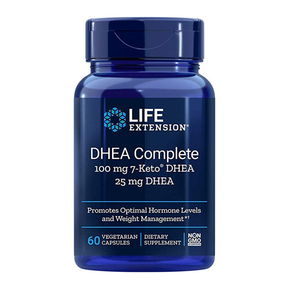 Life Extension DHEA Complete 100mg 7-Keto DHEA 25mg DHEA Sports Performance Recovery Life Extension  (4428732039233)