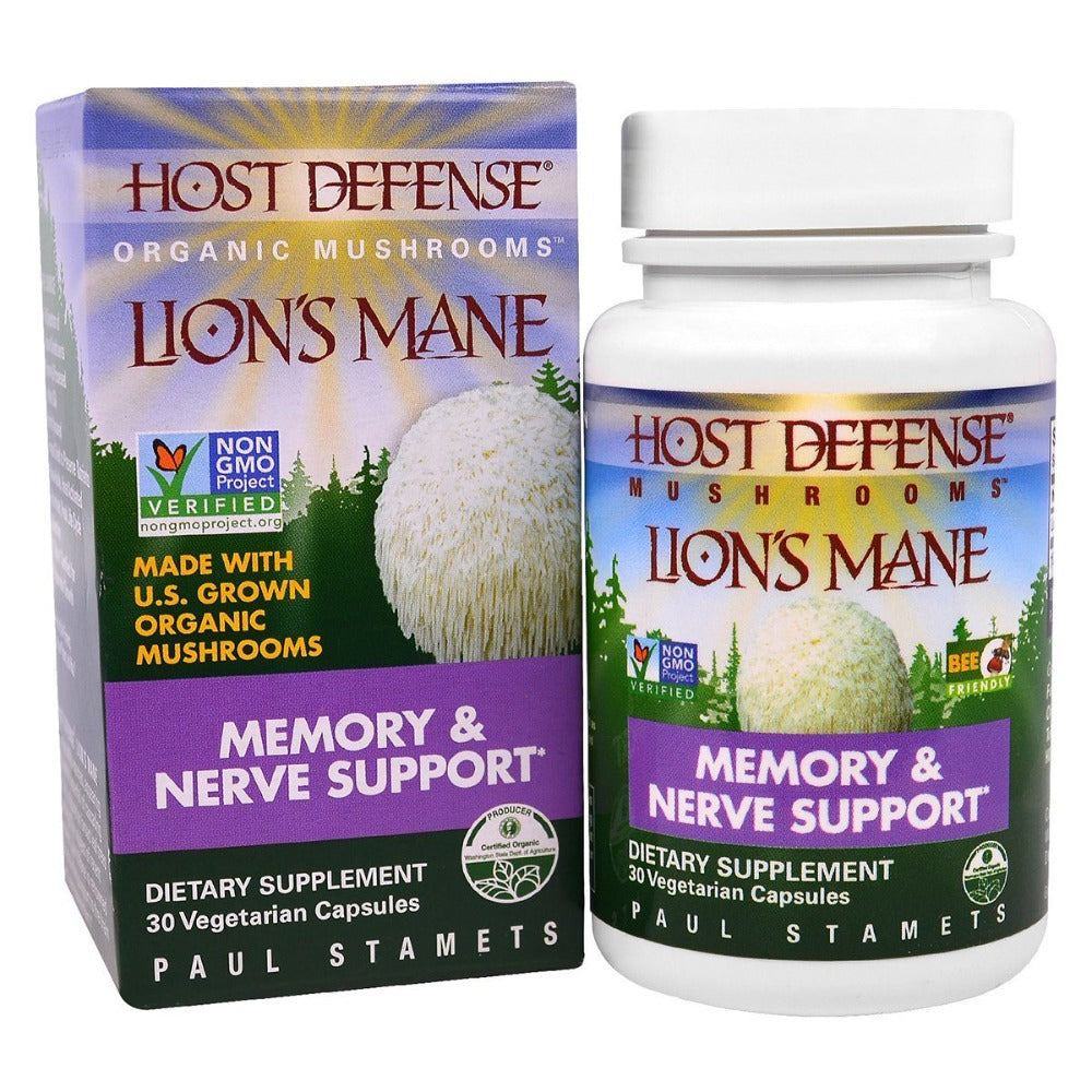 Fungi Perfect Host Defense Lion's Mane 30 Vege Caps Cognitive Fungi Perfect  (1059230941227)