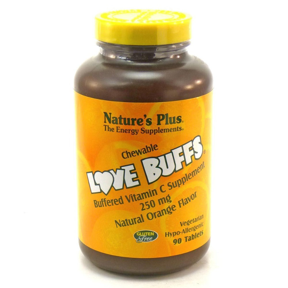 Nature's Plus Love buffs Chewable Vitamin C 250mg 90 Tabs Vitamins Nature's Plus  (1057909080107)
