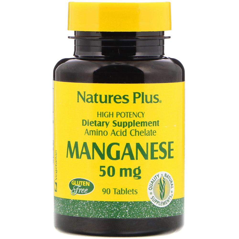 Nature's Plus Manganese 50mg 90 Tablets | Natural Energy / Overall Wellness Vitamins & Minerals Nature's Plus  (1797533073451)