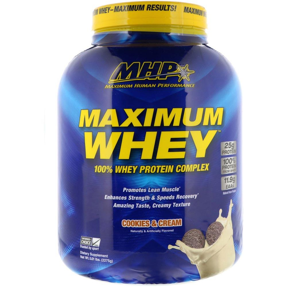 MHP Maximum Whey 5lb Protein Powders MHP Cookies and Cream  (1771729223723)