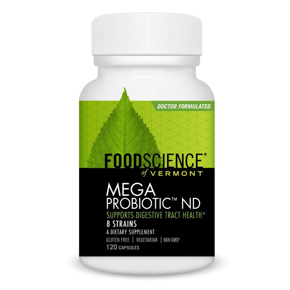 Foodscience of Vermont Mega Probiotic ND120 Capsules | Digestive Tract Health Digestive Health FoodScience of Vermont  (1770452516907)