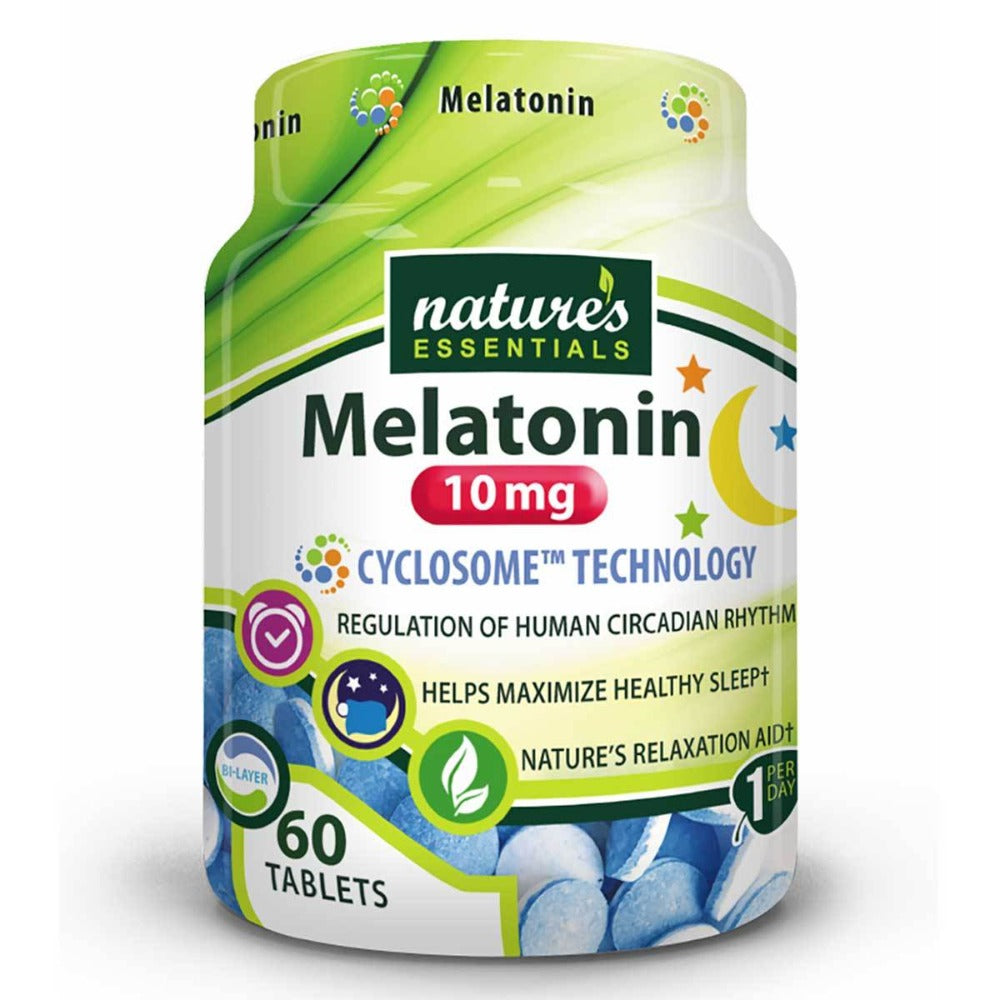 Nature's Essentials Melatonin 10mg 60 Tablets Personal Care Nature's Essentials  (1059294838827)