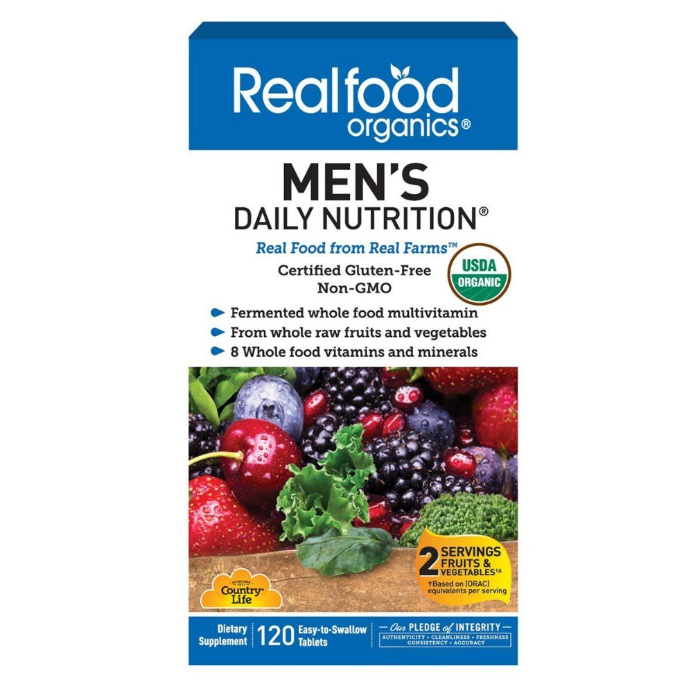Country Life Realfood Organics Men's Daily Nutrition 120 Tabs Vitamins Country Life  (1058783494187)