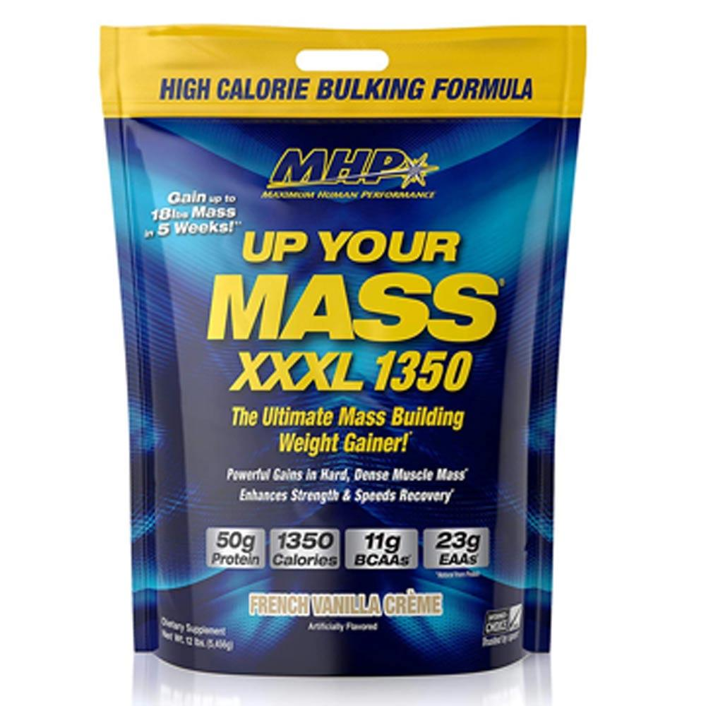 MHP Up Your Mass XXXL 1350 12.2lbs | Mass Gainer Protein Powders MHP French Vanilla Creme  (1736000405547)