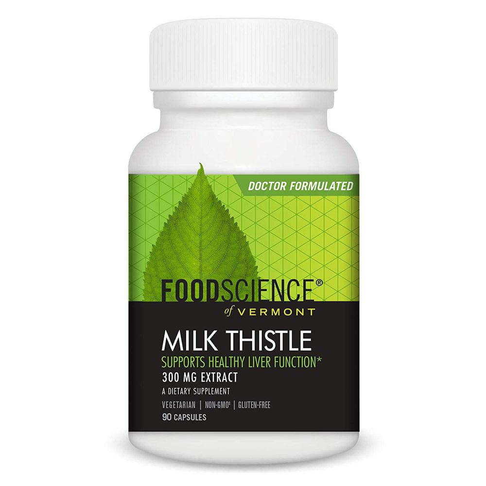 Foodscience of Vermont Milk Thistle 90 Capsules | Supports Liver Function Herbs FoodScience of Vermont  (1770450157611)