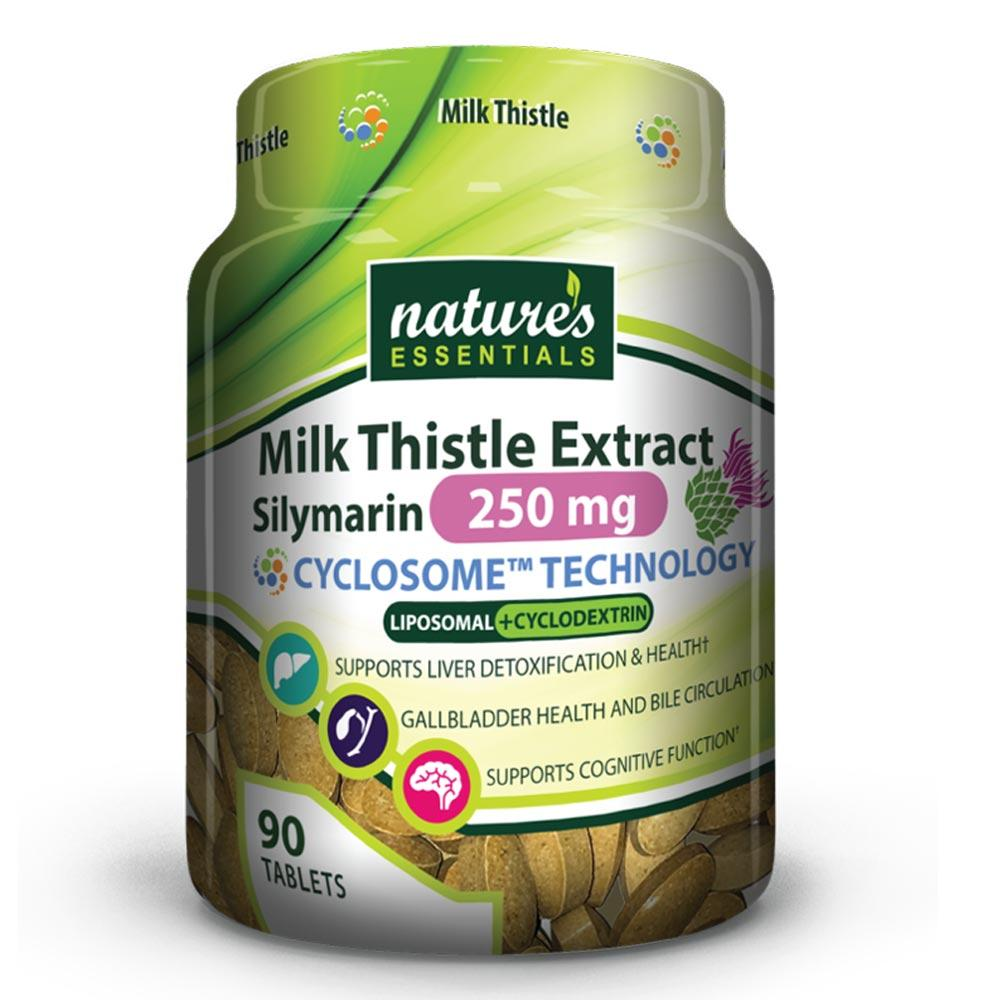 Nature's Essentials Milk Thistle Extract Silymarin 250mg 90 Tabs Specialty Health Products Nature's Essentials  (4166351945771)