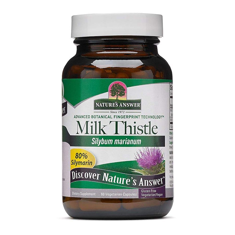 Nature's Answer Milk Thistle Herbal Extract 140mg 60 Capsules | Liver Function Herbs Nature's Answer  (1782426239019)