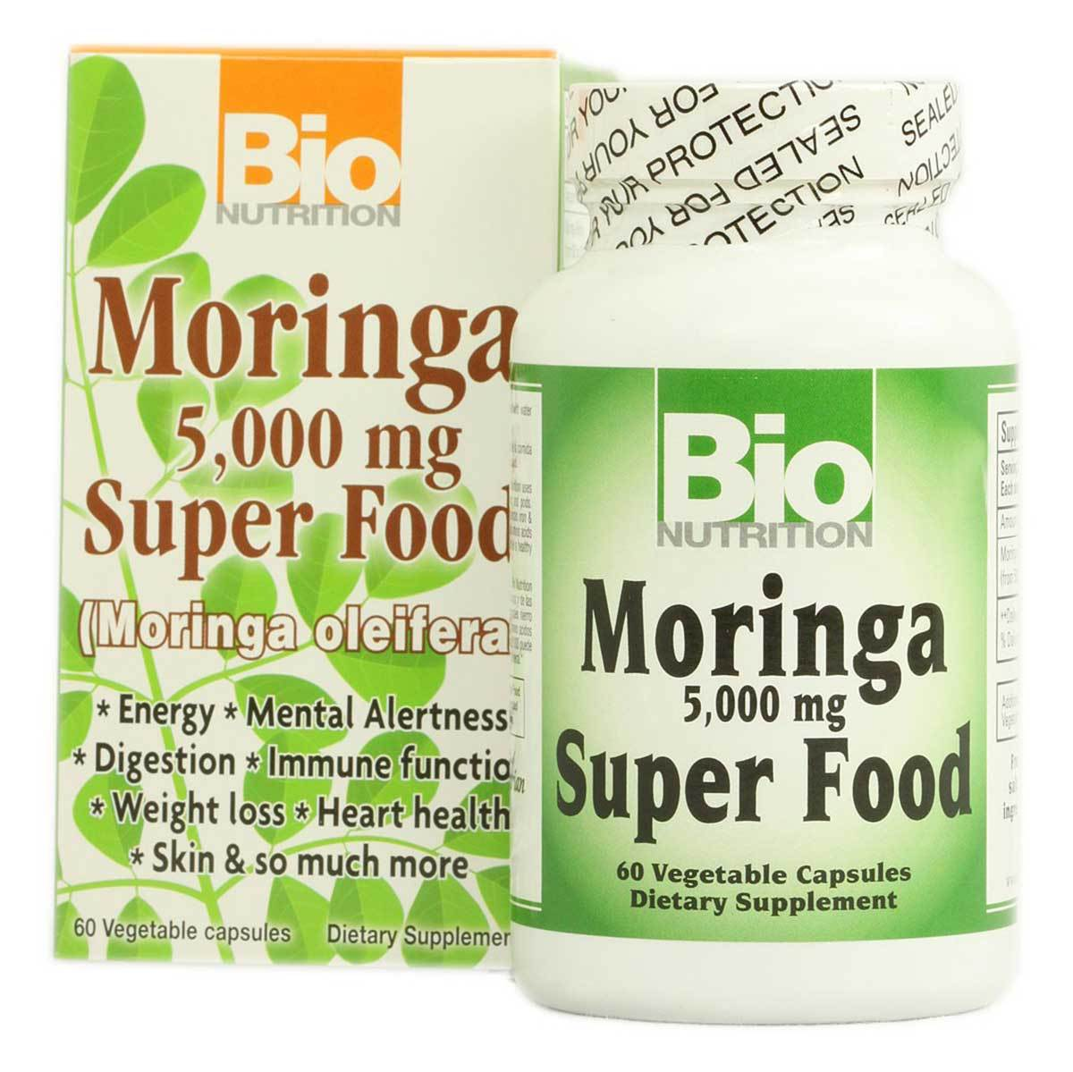 Bio Nutrition Moringa 5000mg 60 Vege Caps Antioxidants / CoQ-10 Bio Nutrition  (1058766389291)