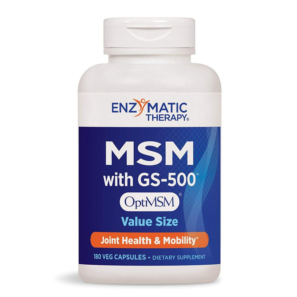 Enzymatic Therapy MSM with GS-500 180ct | Joint Health & Mobility Joint Aid Enzymatic Therapy  (1769620308011)