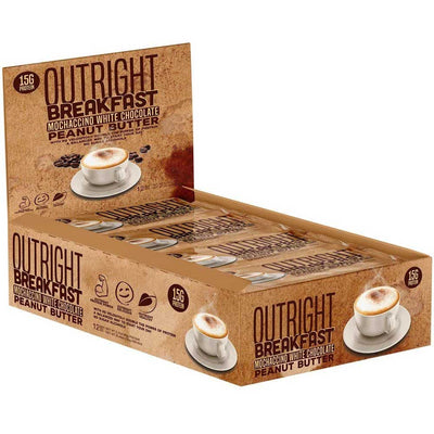 MTS Nutrition Outright Bar 12 Pack Bars MTS Nutrition Mochaccino White Chocolate Peanut Butter  (1825697103915)
