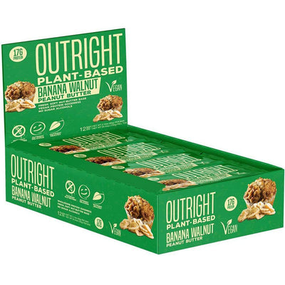 MTS Nutrition Outright Bar 12 Pack Bars MTS Nutrition Banana Walnut Peanut Butter PLANT  (1825697103915)
