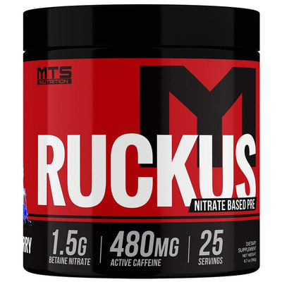 MTS Nutrition Ruckus 25/Sv Pre-Workouts MTS Nutrition Blue Raspberry  (4529658232897)