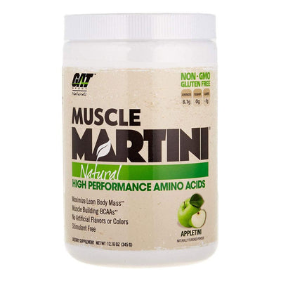 GAT Sport Muscle Martini 30 ServingsNatural High Performance Amino Acids Amino Acids GAT Appletini  (1812371111979)