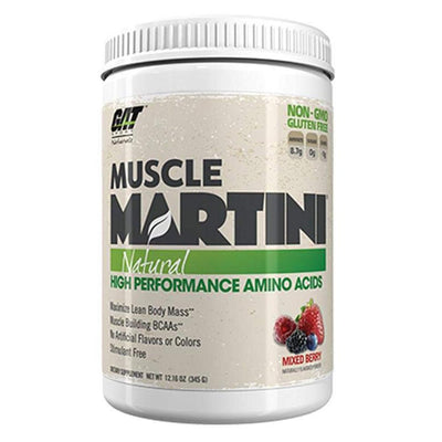 GAT Sport Muscle Martini 30 ServingsNatural High Performance Amino Acids Amino Acids GAT Mixed Berry  (1812371111979)