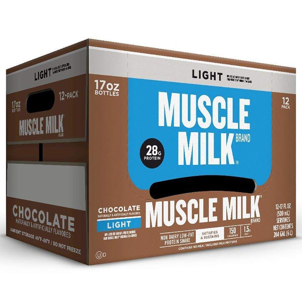 Muscle Milk Light RTD 12/Case Drinks CytoSport Chocolate  (1556907982891)