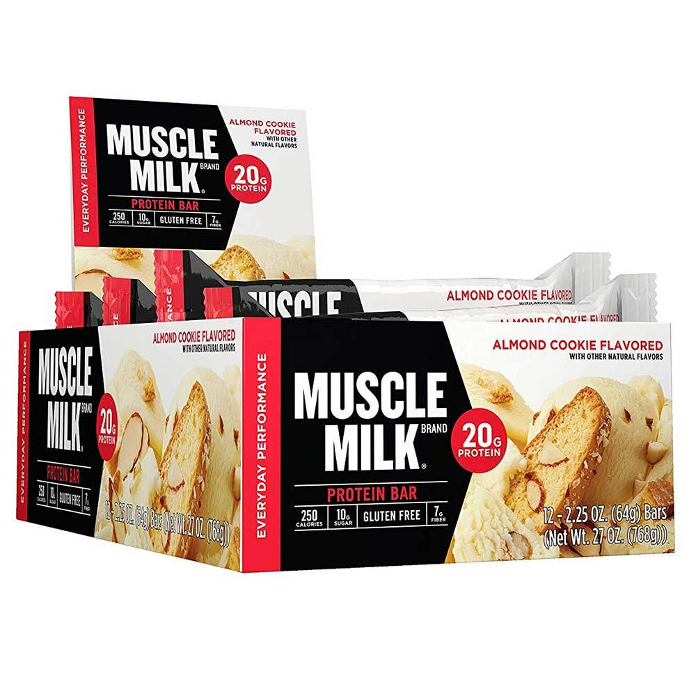 Muscle Milk Red Bar 12/Case Bars CytoSport Almond Cookie  (1556908015659)