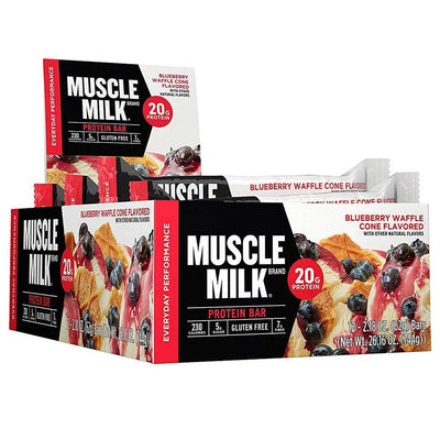 Muscle Milk Red Bar 12/Case Bars CytoSport Blueberry Waffle Cone  (1556908015659)