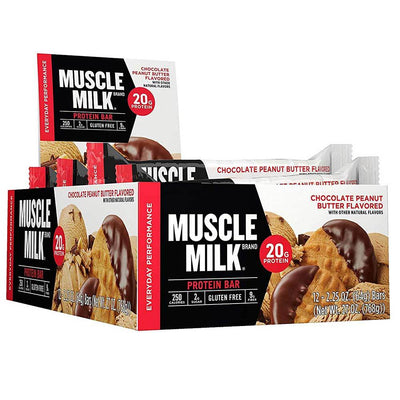Muscle Milk Red Bar 12/Case Bars CytoSport Chocolate Peanut Butter  (1556908015659)