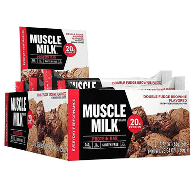 Muscle Milk Red Bar 12/Case Bars CytoSport Double Fudge Brownie  (1556908015659)