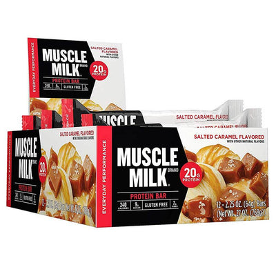 Muscle Milk Red Bar 12/Case Bars CytoSport Salted Caramel  (1556908015659)