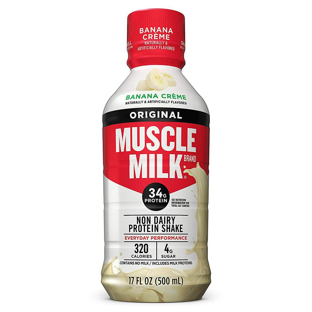 Muscle Milk RTD 17oz 12/Case Drinks CytoSport Banana Creme  (1556916666411)