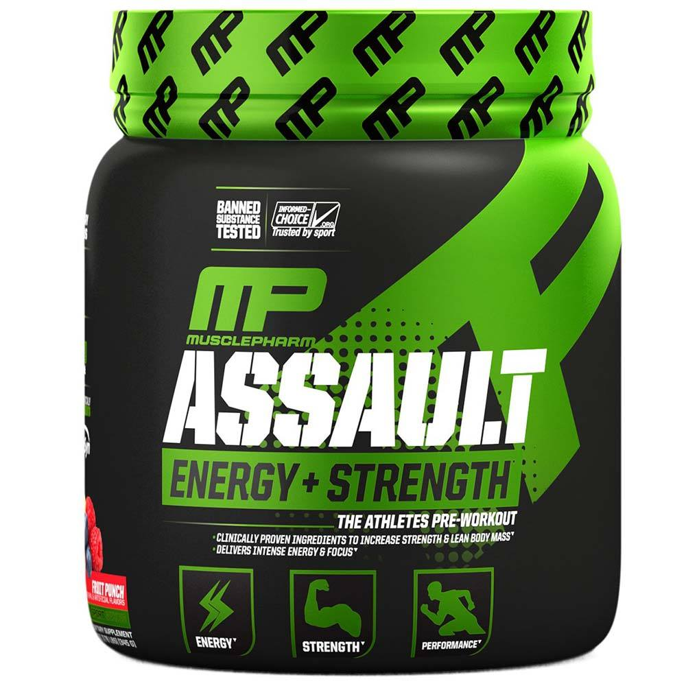 Muscle Pharm Assault 30 Servings Sports Performance Recovery Muscle Pharm Fruit Punch  (1691637841963)