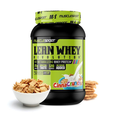 Muscle Sport Lean Whey Revolution 2lb Protein Powders Muscle Sport Cinna Crunch  (4384302760001)