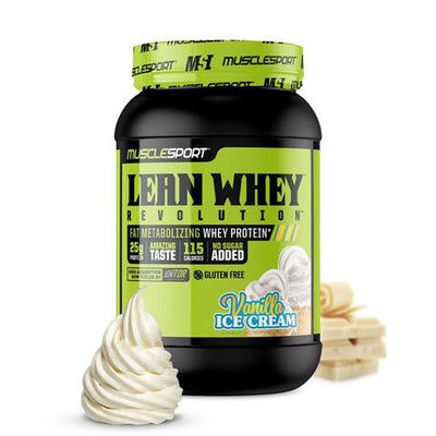 Muscle Sport Lean Whey Revolution 2lb Protein Powders Muscle Sport Vanilla Ice Cream  (4384302760001)