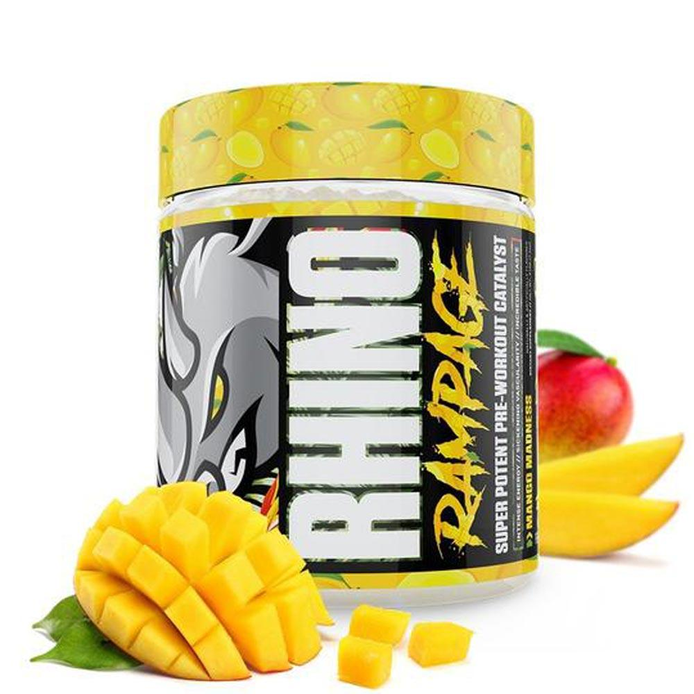 Muscle Sport Rhino Rampage 30 Servings Pre-Workouts Muscle Sport Mango Madness  (4380895182913)